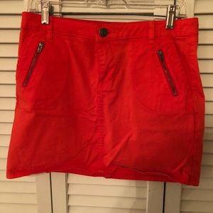 Gap orange denim skirt